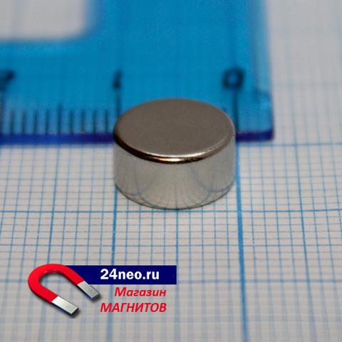 Неодимовый магнит диск 10х5 мм