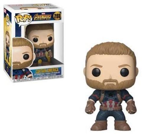 Фигурка Капитан Америка #288 Мстители: Война Бесконечности - Avengers Infinity War Marvel, Funko POP