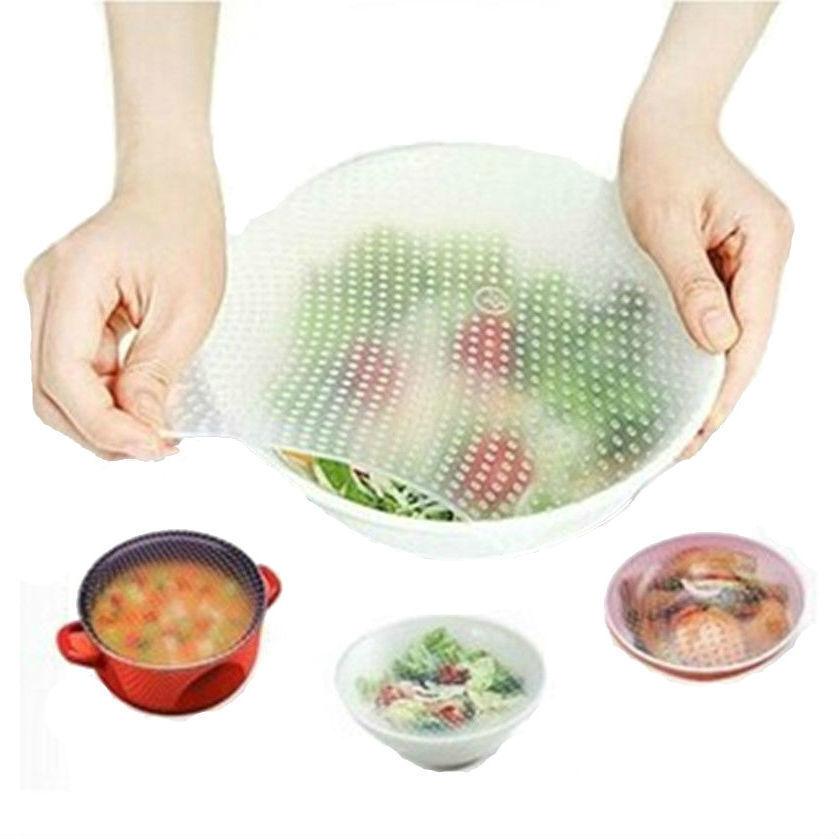 Силиконовые крышки для посуды растягивающиеся