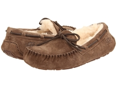Женские мокасины UGG Moccasins Dakota for Women Espresso (с мехом)