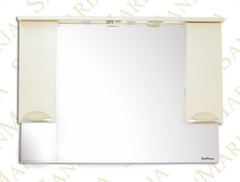 Зеркало-шкаф SanMaria Милан-120 бежевый, 2 ящика