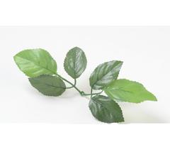 Листья розы из тонкой ткани, 6 шт на ветке.