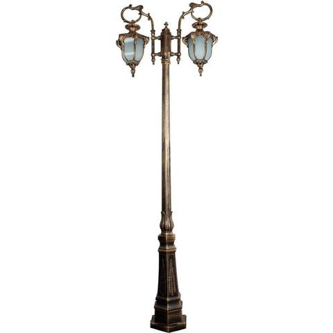 Светильник садово-парковый, 2*60W 230V E27 IP44 черное золото, PL4058 (Feron)