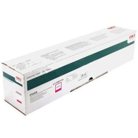 OKI C9655 малиновый тонер-картридж для C9655. Ресурс 22 000 стр А4. Код заказа: 43837134, 43837130