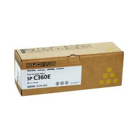 Принт-картридж Ricoh SP C360HE, желтый. Ресурс 5000 стр. (408187)