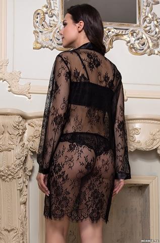 Халат рубашка  из кружева   MIA-MIA  Шанель  2127 черный