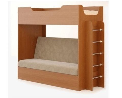 Кровать двухъярусная  КР-11 с диваном бук тёмный