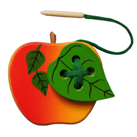 Яблоко с листиком шнуровка краш. (RNToys)