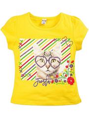 BK002F-37 футболка для девочек, желтая