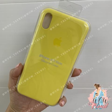 Чехол iPhone XS Max Silicone Case /canary yellow/ канареечный original quality