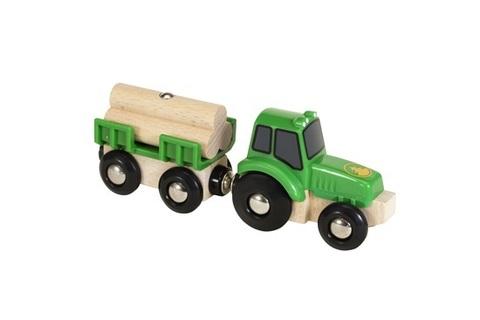 BRIO 33799 Трактор с бревнами