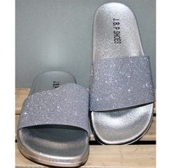 Шлепки женские J.B.P. Shoes Nu1213 Silver.