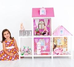 PAREMO Двухэтажный кукольный дом (3 комнаты, 3 куклы) (PPCD116-01)