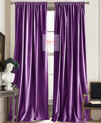 Шторы бархат Luxe (фиолетовый).