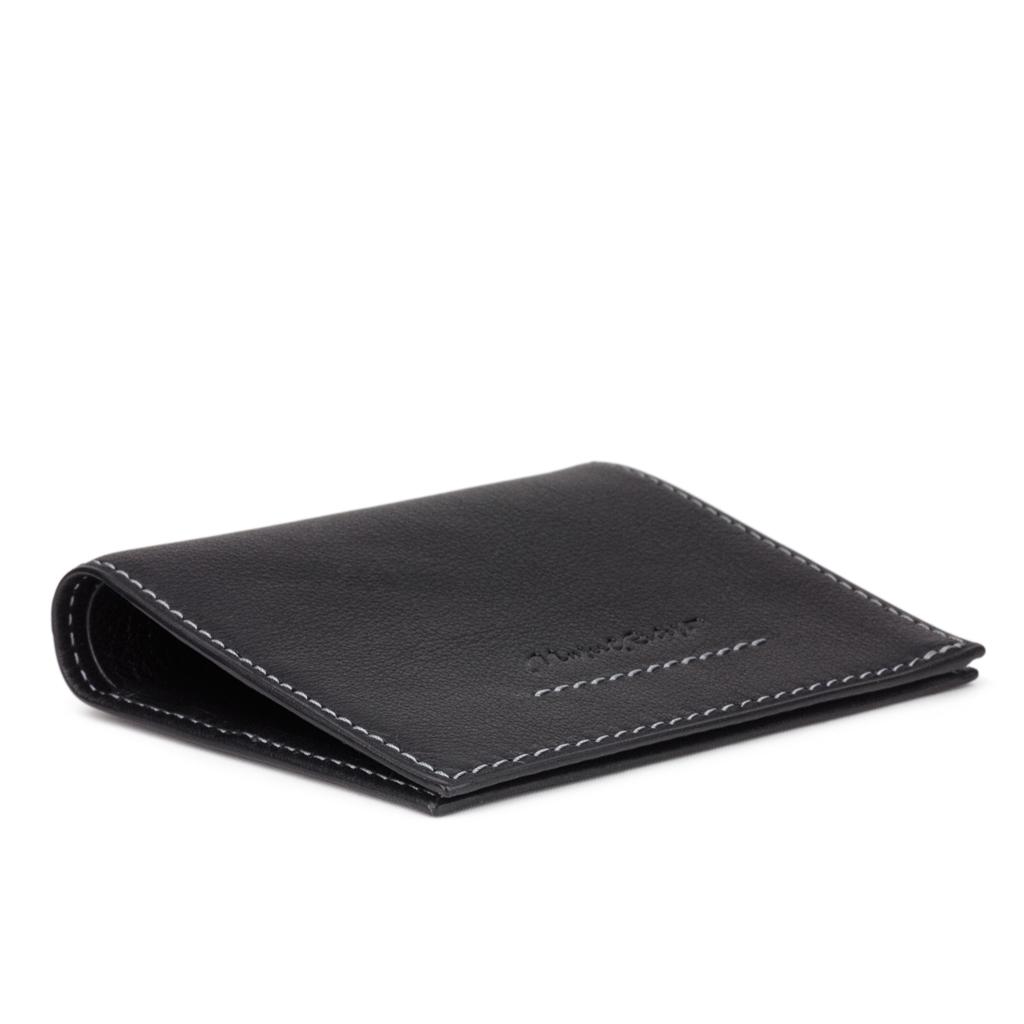 Кошелек-портмоне Carre-Line Easy из натуральной кожи теленка, черного цвета