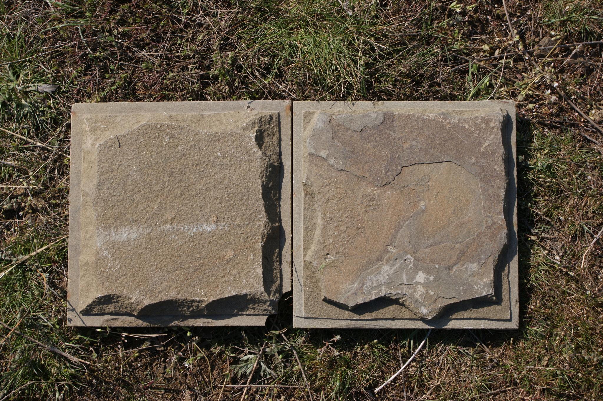 Плитка песчаник пиленный рустованный Серый образец