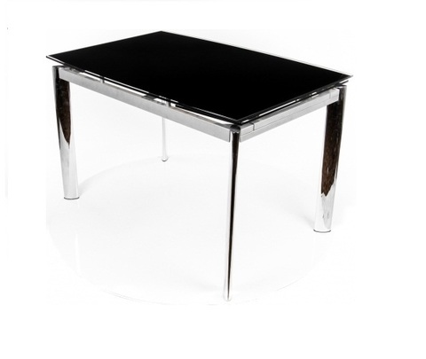 Стол обеденный S-302T раскладной стеклянный прямоугольный черный