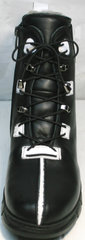 Турецкие женские зимние ботинки Ripka 3481 Black-White.