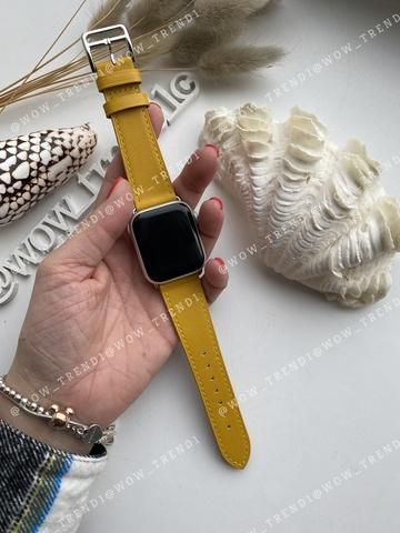 Ремешок Apple watch 38mm Leather Сlassic /yellow/
