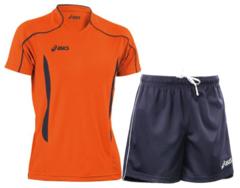 Мужская волейбольная форма Asics Volo Zone (T604Z1 6950-T605Z1 0050) оранжевая