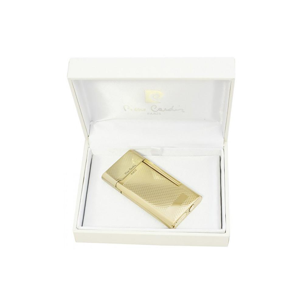 Зажигалка Pierre Cardin кремниевая газовая, цвет позолота с насечкой, 3,5х0,9х6,9см