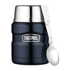 Термос для еды с ложкой Thermos SK 3000 BK Matt Black 0,47L