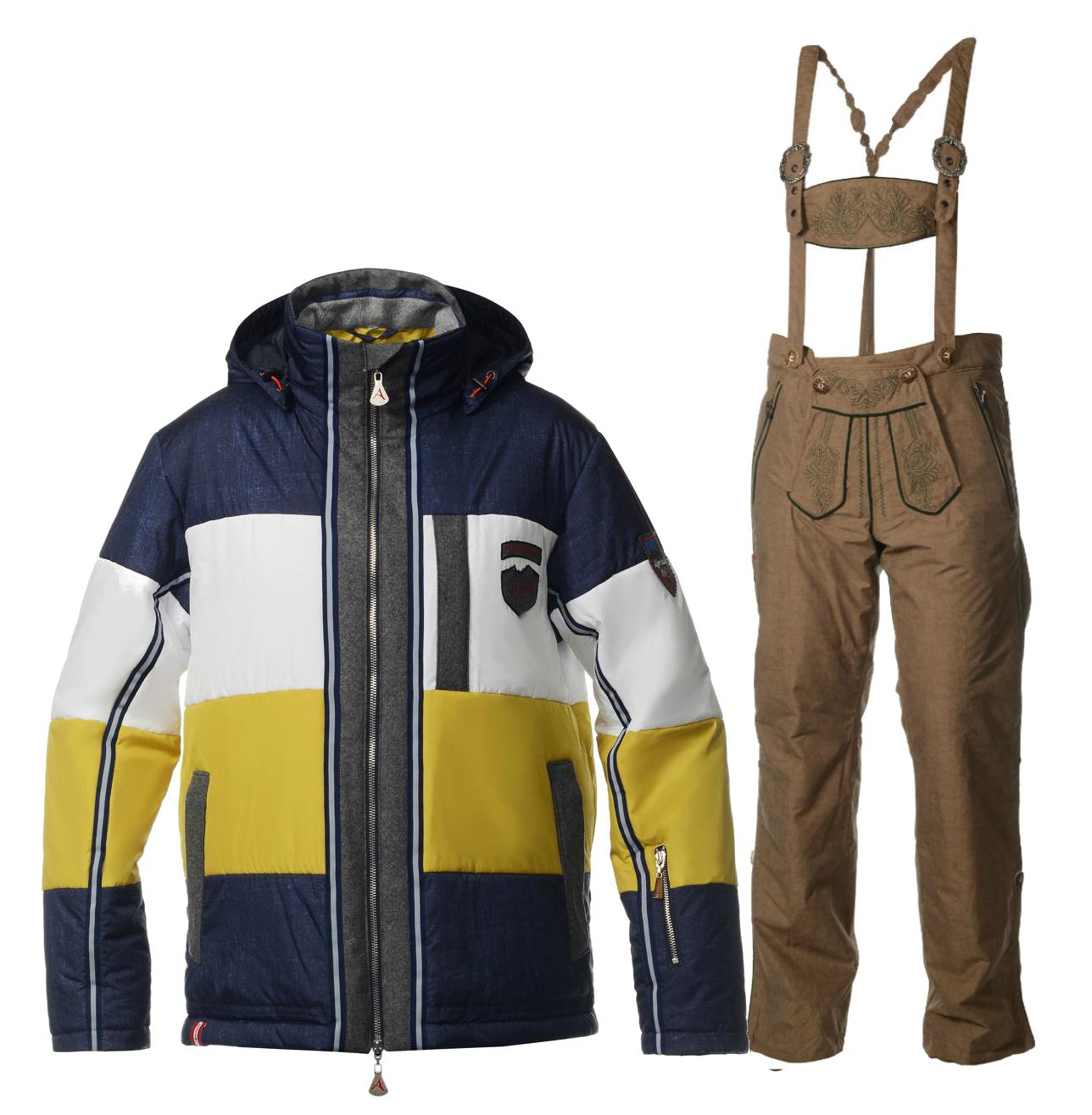 Мужской горнолыжный костюм Almrausch Steinpass-Lois 320109-121136 джинс