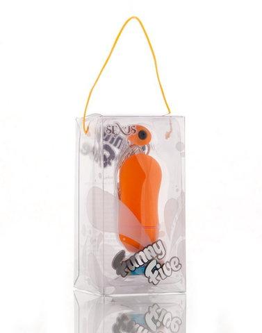 Оранжевый вибратор яйцо на проводе (2,5 х 6,5 см)