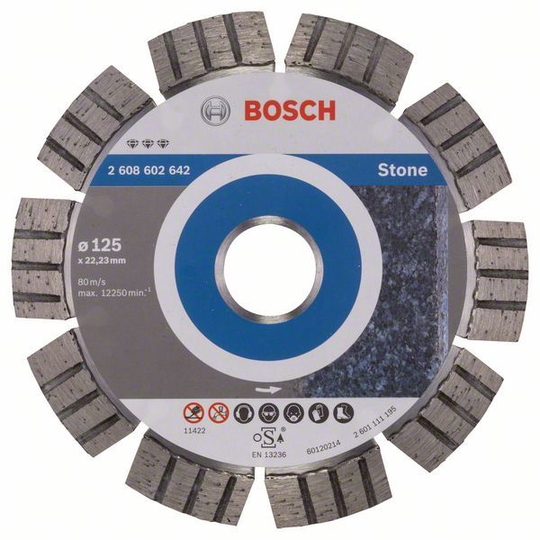 Алмазный диск Best for Stone 125-22,23 Bosch 2608602642