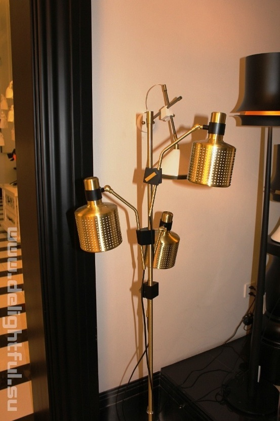торшер Bert Frank Riddle Floor Lamp Black  & Brass 1