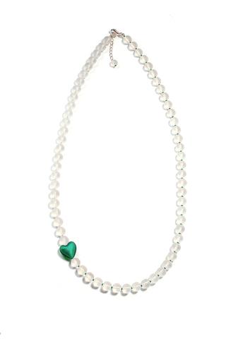 Ожерелье Cuori изумрудное