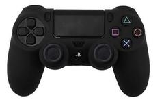 PS4 Чехол для геймпада DualShock 4 (черный) + накладки