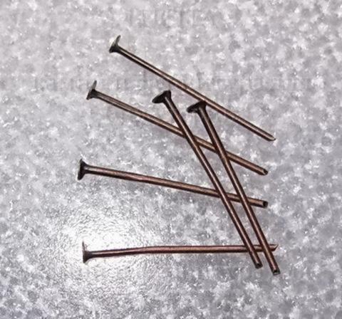 Пин - гвоздик (цвет - медь) (20х0,7мм), 20 штук ()