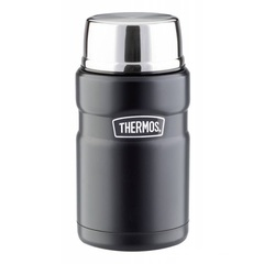 Термос для еды с ложкой Thermos SK 3020 BK Matt Black 0,71L