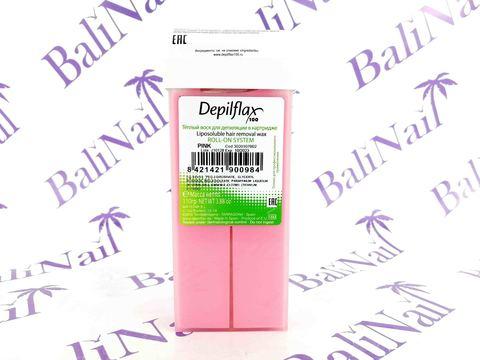 Воск для депиляции в картридже Depilflax, 110 гр. - Розовый