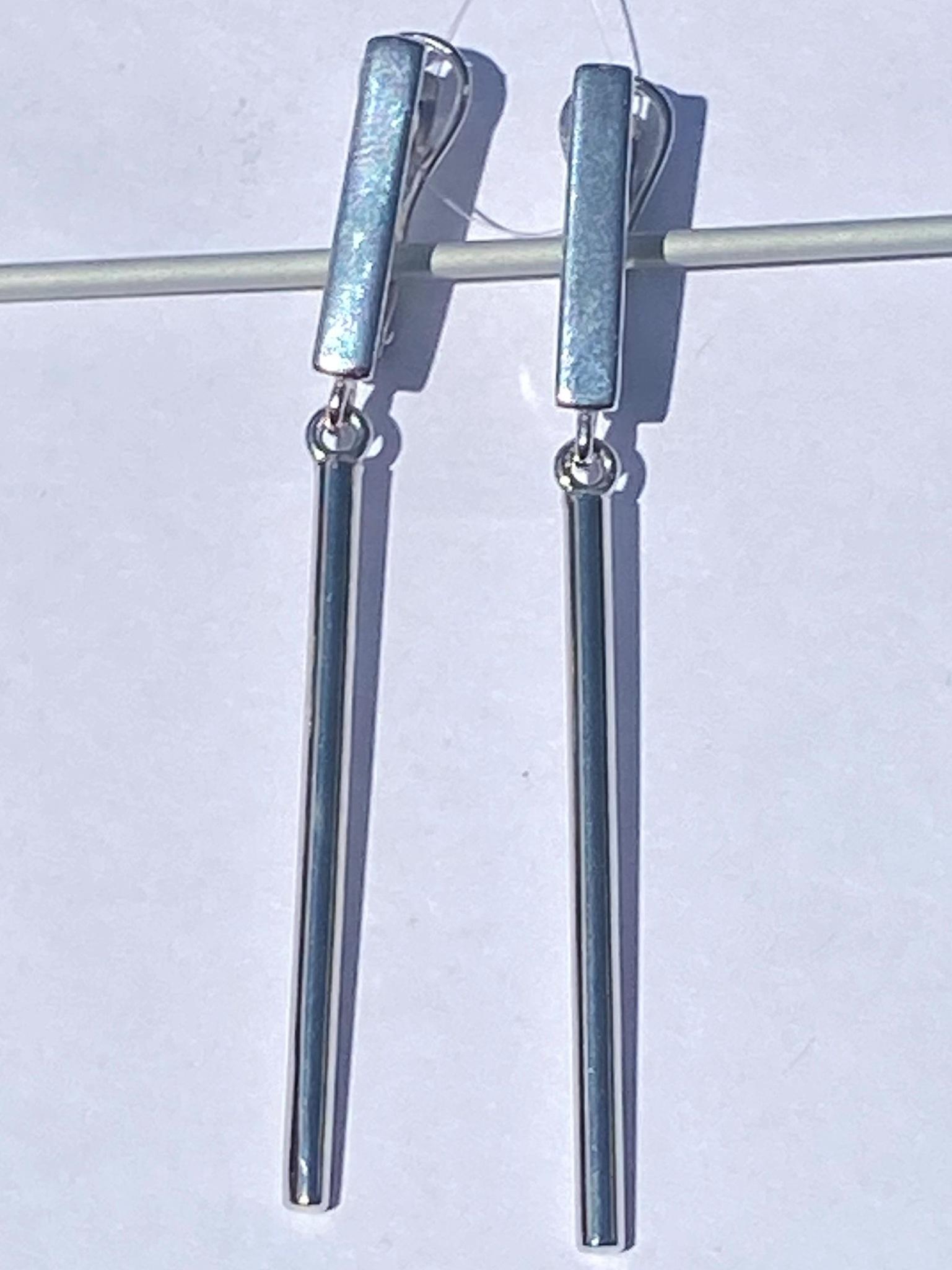Пайп (серьги из серебра)