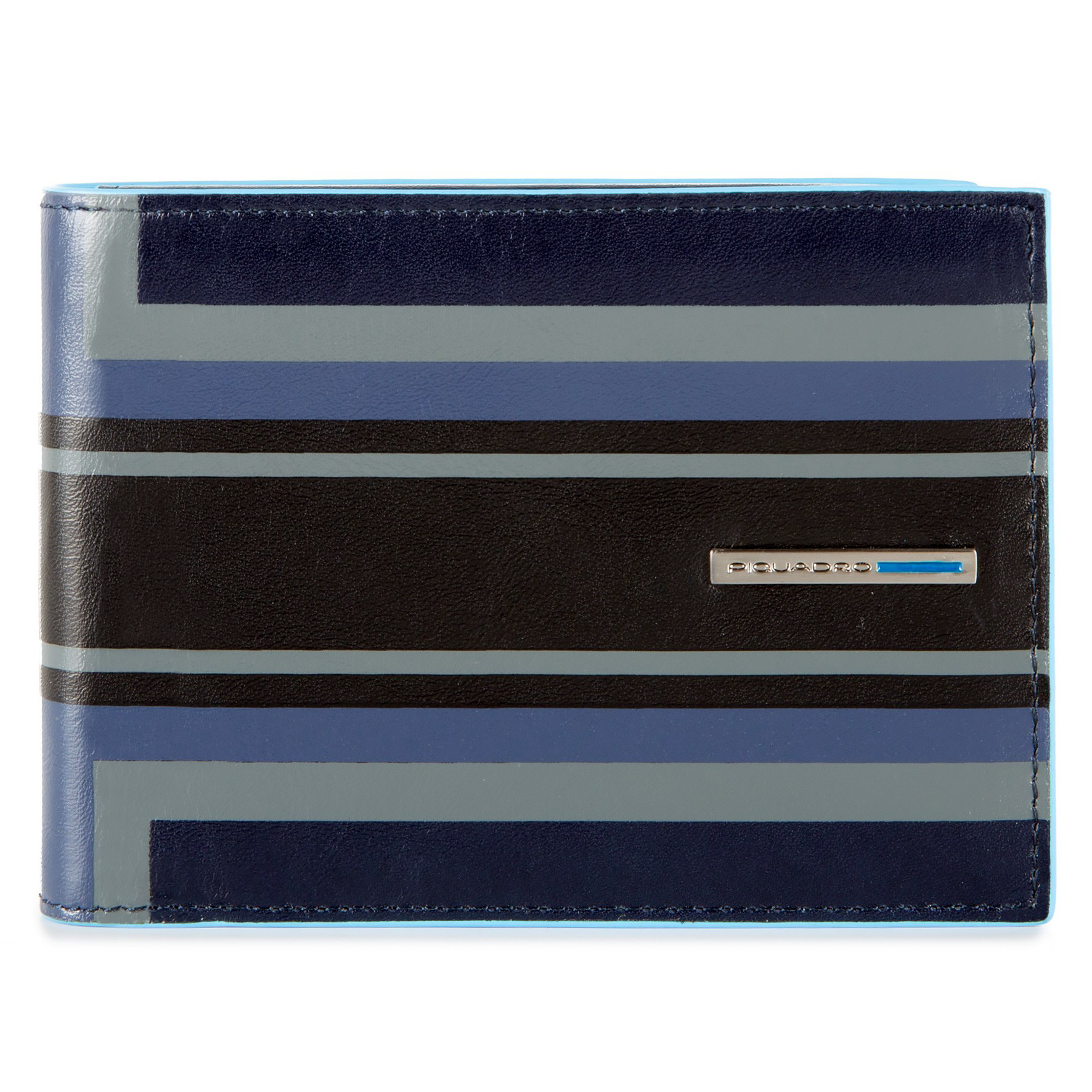 Кошелек мужской Piquadro Blue Square, цвет синий, 12,5x9x2 см (PU257B2SER/BLU)