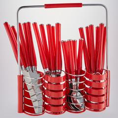 Набор столовых приборов 24 предмета  в подставке BE-016P25/1