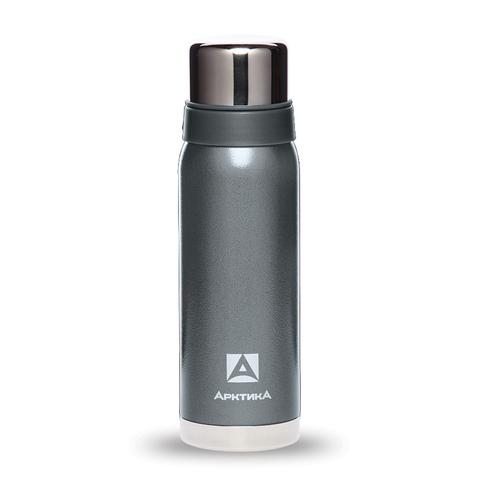 Термос Арктика (0,75 литра) с узким горлом американский дизайн, серебристый