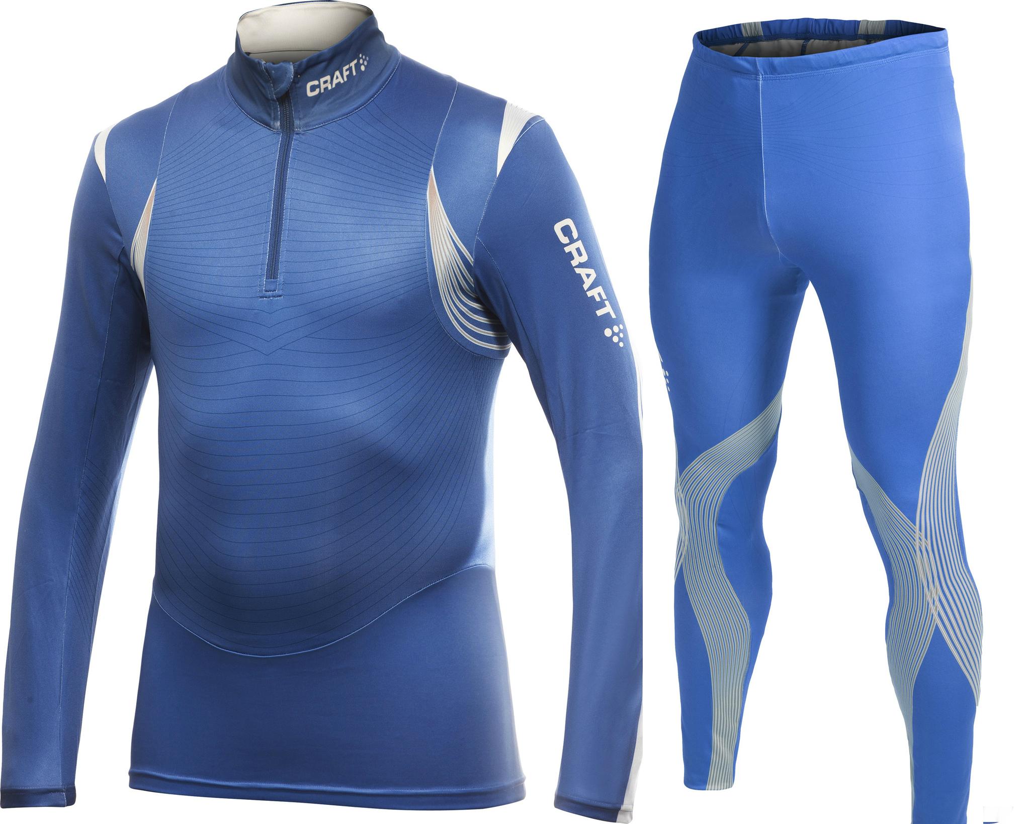 Элитный гоночный лыжный комбинезон Craft Elite XC мужской синий
