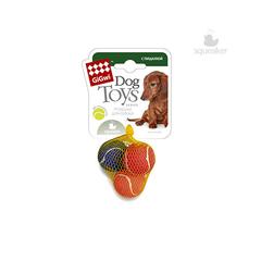 Gigwi мячики теннисные с пищалкой маленькие 3 шт в упаковке 4,8 см