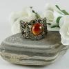 Основа для кольца филигрань с сеттингом для кабошона 8 мм (цвет - античная бронза) (Кольцо с Агатом. Пример)