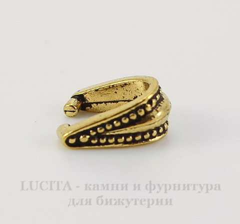 """Держатель для кулона TierraCast """"Королевский"""" 10х9х5 мм (цвет-античное золото)"""