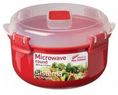 Круглый контейнер для микроволновки Sistema Microwave, 915 мл