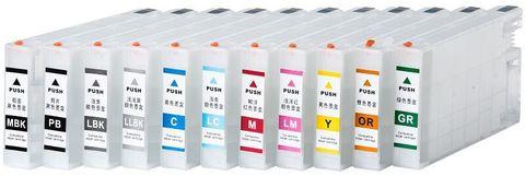 Перезаправляемые картриджи для Epson Pro 4900, 4910. Комплект с чипами (Без пакетов)