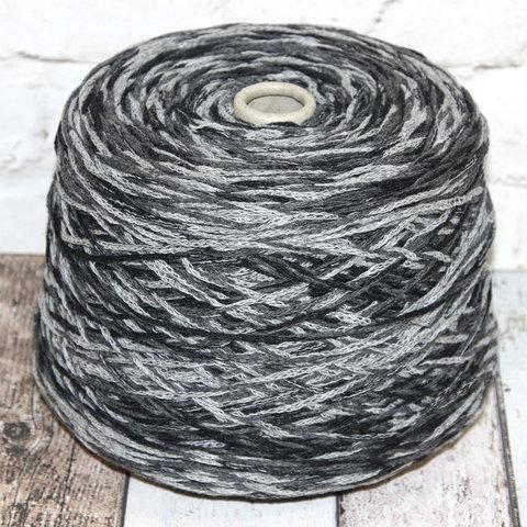 Шнурок полушерсть NEW MILL / KATY 120 серый секционный