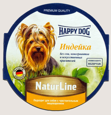 Happy Dog Natur Line Паштет Индейка