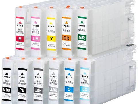 Перезаправляемые картриджи для Epson Pro 4900, 4910. Комплект 11 картриджей с чипами (С пакетами)