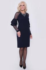 """Роскошь, элегантность и утонченность - всё это о нашем новом платье из коллекции """"Праздничное"""".  Оно безумно удобное и приятное к телу. Воланы делают Ваш образ милым и непринужденным. Длина платья: 97 см"""