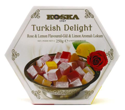 Рахат-лукум с ароматом розы и лимона, Koska, 250 г